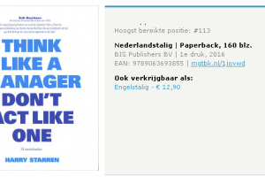 [Review] Think like.. a manager don't act like one – 75 invalshoeken #boek