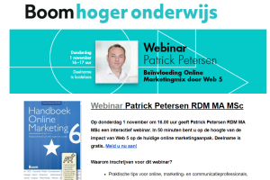 [Event] 1 november – Gratis webinar 'Beïnvloeding Online Marketingmix door Web 5.0'