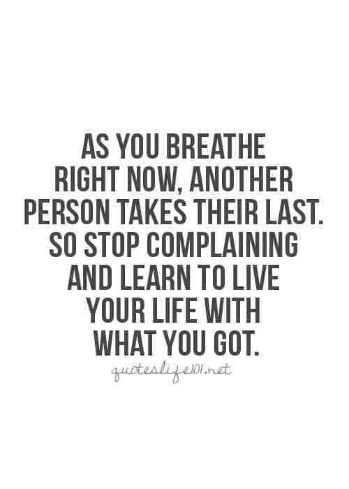 quote complaining