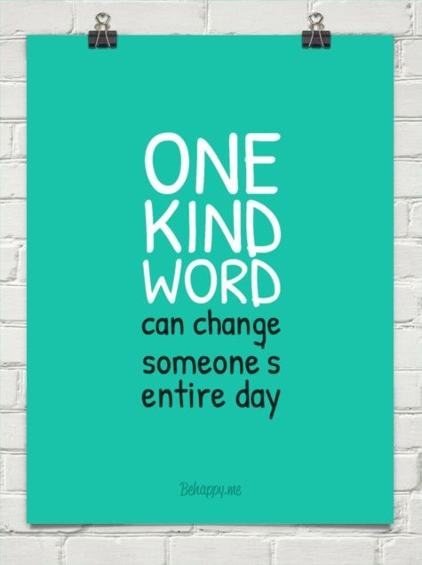 quote kind words