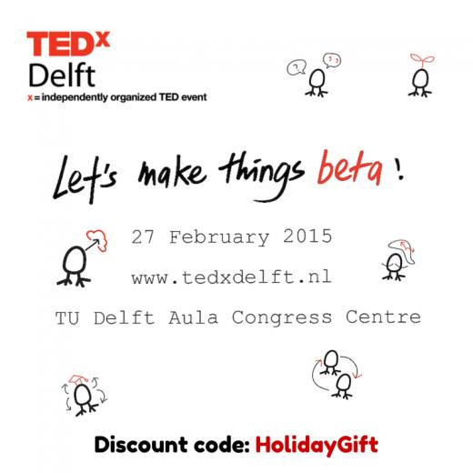 Geef een TEDxDelft ticket voor Kerst