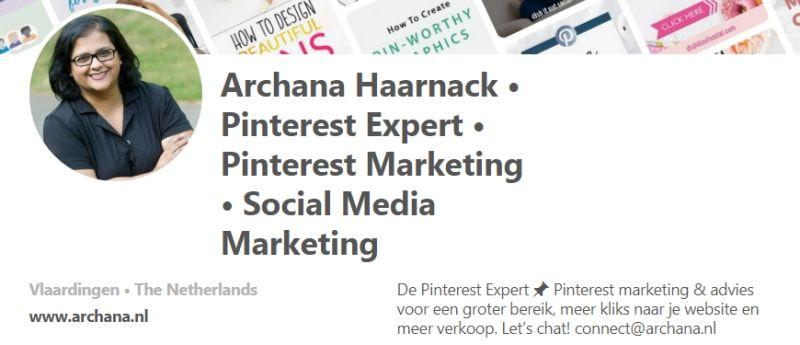 [HowTo] Perfecte Pinterest profiel voor meer traffic naar je website (Auteur: @iArchana) voor Nieuws.Social | #pinterestmarketing #pinteresttips