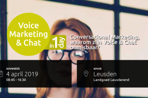 VOL=VOL [Event] Slimme spraakassistenten en livechat: 'Voice-marketing & Chat' #voiceday19