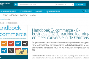 Managementblog: 'Handboek E- commerce – E-business 2020, machine learning en meer conversie in de klantreis'