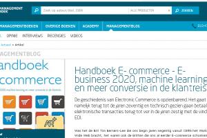 Managementblog: 'Handboek E- commerce – E-business 2020, machine learning en meer conversie in de klantreis'