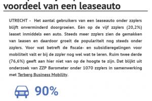 [Onderzoek] 'Aantal zzp'ers met leaseauto groeit door'