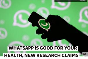 [Onderzoek] 'Wetenschap bewijst dat WhatsAppen juist gezond voor je is!'