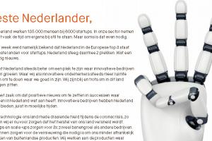 [Opvallend] 'Techsector schrijft open brief aan Nederland'