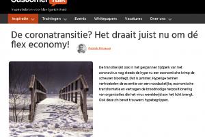 [Column] 'De coronatransitie? Het draait nu om dé flex economy!'