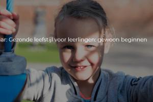 Gratis webinar: 'Gezonde leefstijl voor leerlingen: gewoon beginnen'