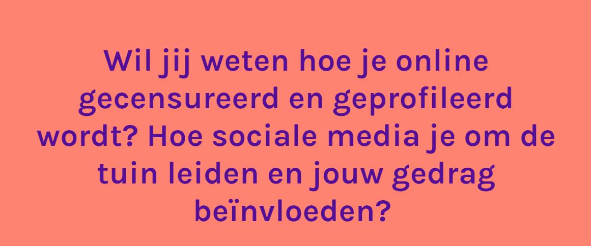 Onderzoek Bits of Freedom: 'Cursus (social media en online) Manipulatie #opvallend'