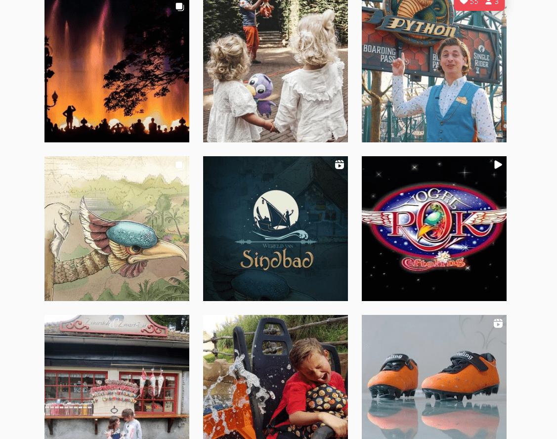 Hoofdstuk 3 en 4: De Nederlandse Instagram Top 100: Efteling aan de top